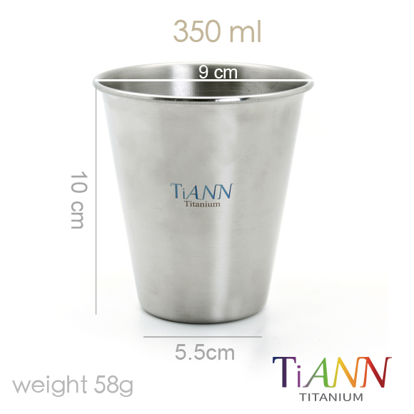 鈦杯 中鋼純鈦 鈦碗 鈦筷 鈦餐具 鈦安餐具 冷飲杯 TiANN Titanium cup